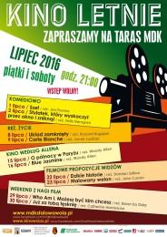 Plakat - kino letnie - lipiec 2016